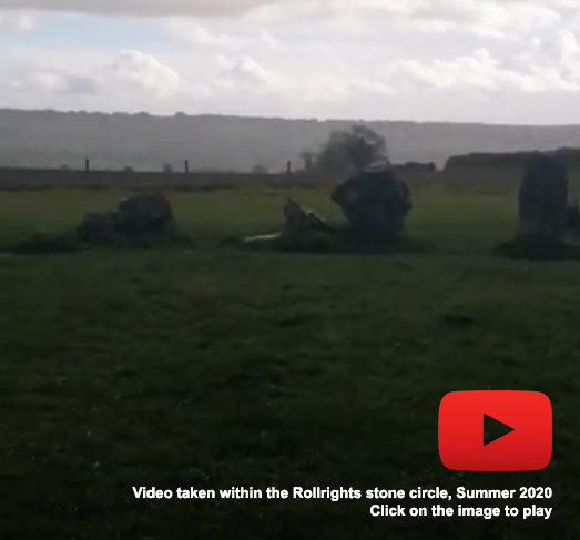 Click on this photo of the Rollright stone circle to play a video