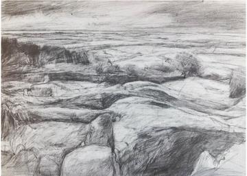 miranda cresswell drawing of Aughertree, Cornwall.